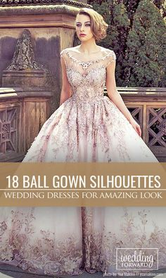 18 Various Ball Gown Wedding Dresses For Amazing Look ❤ Ball gown wedding dresses are timeless and classic. This silhouette suits for all types of bodies. See more: http://www.weddingforward.com/ball-gown-wedding-dresses/ #wedding #dresses