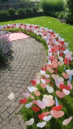 could be flowers or mushrooms too. or even conflicting direction arrows for a wonderland party