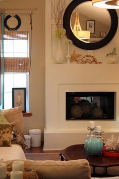 Fireplace mantle display (coffee table display too)