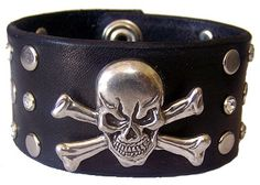 Item 093010 Skull and Crystals Leather by EasternOregonLeather