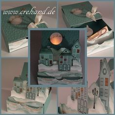 Love this idea of the cutout moon and tea light moonshine. Pop Up Cards, Xmas Cards, Holiday Cards, Stampin Up Christmas, Handmade Christmas, Christmas Crafts, Stampin Up Weihnachten, Step Cards, Easel Cards