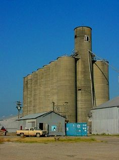 Robstown, Texas grain elevators. We knew we had arrived in Robstown to visit family when we saw this.