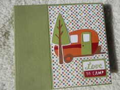 6x6 Camping Scrapbook/Photo Album by SimplyMemories on Etsy