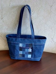 OK Denim Tote Bags, Denim Purse, Patchwork Bags, Quilted Bag, Blue Jean Purses, Shabby Chic Stil, Handmade Purses, Recycled Denim, Fabric Bags