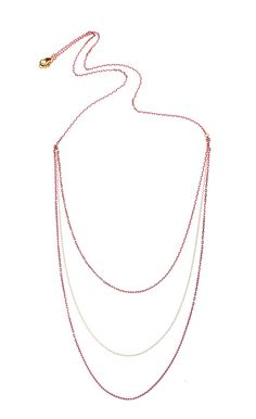 St. Barth Carre D'Or pink and gold multi-layer necklace ($98)