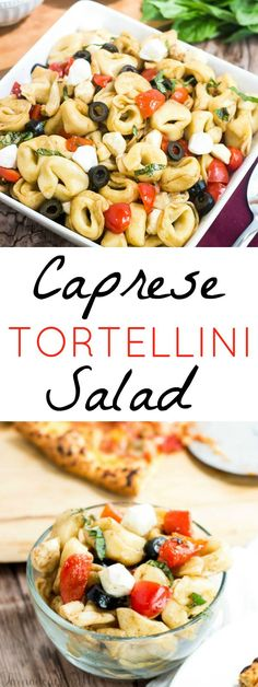 Delicious light and fresh Caprese Tortellini Salad #TimelessPizza #ad