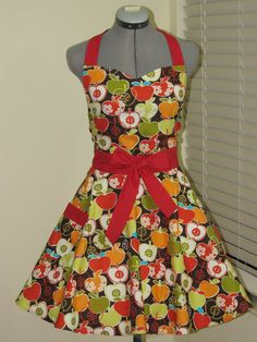 Fall in Love with Apples  Full Apron with a by ApronsByVittoria, $35.00