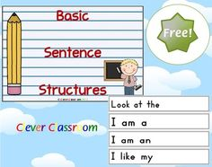 FREE Basic Sentence Structure Displays and Record Sheet 5 pages