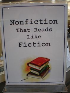 Nonfiction That Reads Like Fiction Book Display by Eden Prairie Library - HCL, via Flickr
