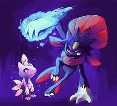 Sneasel and Weavile ice pokemon dark