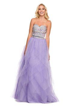 Unique Corset Long Prom Homecoming Evening Dress
