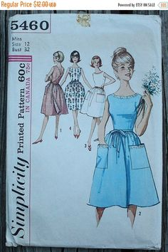 50% Summer Sale Simplicity 5460 1960s 60s by EleanorMeriwether