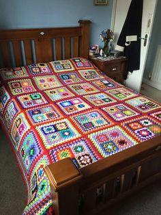 Granny Square Quilt Idea