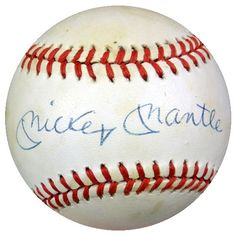 Mickey Mantle Autographed AL Baseball New York Yankees PSA/DNA #V01304