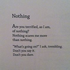 Nothing by Bo Burnham