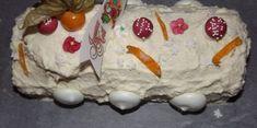 Bûche Blanche crème citron et oranges confites