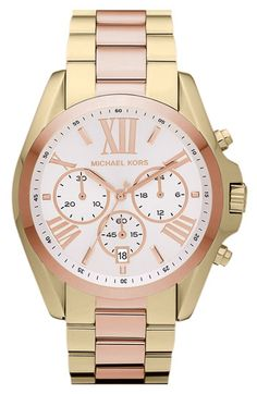 pink and gold Michael Kors
