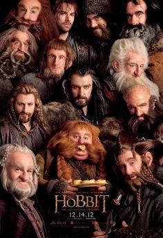 Poster do filme O Hobbit com todos os anões