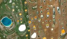 The huge agricultural expanses near Beaumont in Australia are scattered with countless saline pools. Algae and the varying saline content in the soil are responsible for the bright colors. The high salinity makes agriculture difficult for farmers. Art For Sale Online, Birds Eye View, Photo Art, City Photo, Fine Art Prints, Earth, Water, Creative, Image