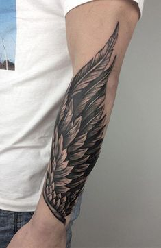 30 Cool Forearm Tattoos for Men - The Trend Spotter Tattoos Arm Mann, Forarm Tattoos, Body Art Tattoos, Hand Tattoos, Mens Wrist Tattoos, Tatoos Men, Tribal Arm Tattoos, Forearm Wing Tattoo, Cool Forearm Tattoos