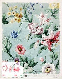 designed by Price, Frank,  Silver Studio, 1950 - #guestpinner @HappyMakersBlog @homeandgardenNL #moda