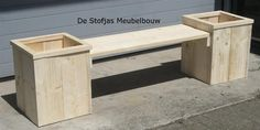 backyard designs – Gardening Ideas, Tips & Techniques Planter Bench, Planter Boxes, Outdoor Projects, Wood Projects, Wooden Planters, Workbench Plans, Fire Pit Backyard, Small Gardens, Wooden Diy