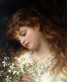 """Jasmine"" by Sophie G. Anderson (1823-1903)."