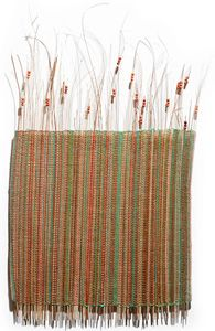 weaving with sticks and beads, weaving , fiber art