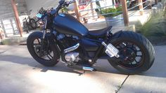 COMPLETED 85 HONDA SHADOW VT700C BOBBER....STITCH-9