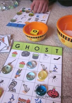 It's Halloween GHOST Bingo, and it's going to be a staple for Halloween class parties. Bingo games are great time-fillers if your activities end and there's still 15 minutes to kill. This halloween bingo game, with ghosts and all! is a fun halloween activity for kids! I'm definitely using this for a fun classroom party! #teachmama #halloween #halloweenpartyideas #classroomideas #halloweenforkids #halloweenbingo #bingo #activitiesforkids