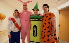 Boston Bruins Zdeno Chara, Brad Marchand, Adam McQuaid and Jordan Caron visiting Children's Hospital-Bless them, it was for a good cause but OMG, Chara the pink bunny! Boston Bruins Funny, Boston Bruins Hockey, Hockey Baby, Ice Hockey, Hockey Room, Hockey Playoffs, Nhl, Hockey Memes, Funny Hockey