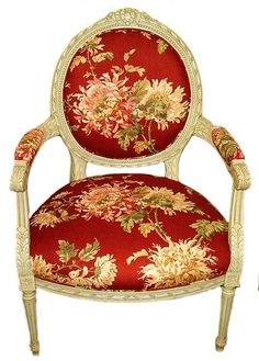 Parisian Neoclassical chairs were first made in the late 1760s, even before the accession of Louis XVI, whose name is attached to the first phases of the style.  Straight tapering fluted legs joined by a block at the seat rail and architectural moldings, characterize  the style, in which each element is a discrete entity.
