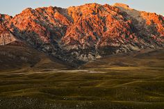 Red sunset, monte Prena, Campo Imperatore