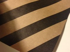 Black and Tan Stripe Wrapping Paper 30 inches x by PetalandForrest, $9.00