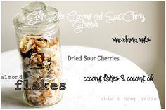 ... , chia seeds, hemp seeds, almonds and dried cherries. #paleo #granola