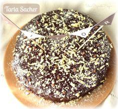 Una Pizca de Hogar: Tarta Sacher con virutas de Chocolate Blanco. Y Ganador del Sorteo Decoratualma.