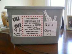 Pick a chore bin