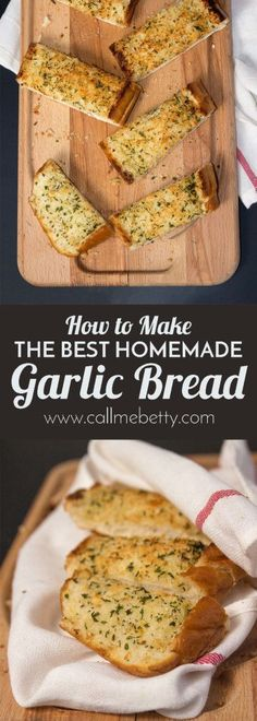 Homemade garlic bread is so easy and delicious you will never want to buy it from the store again