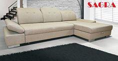 "New Fabric Corner Sofa bed ""Lorient"" Modern Design 2 3 seater Left or Right   BEIGE WHITE BLACK GREY BROWN (beige)"