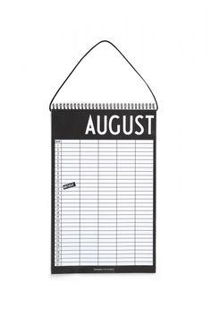 Design Letters Monatsplaner Arne Jacobsen Büroartikel und Papierwaren Papierwaren Kalender
