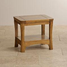 Orrick Rustic Solid Oak Lamp Table   Living Room Furniture