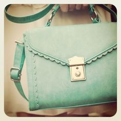 Love this minty-green bag from Asos
