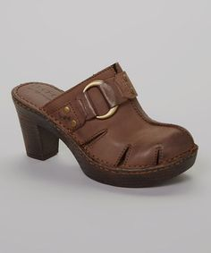 Take a look at this Dark Brown Verian Mule by b.o.c on #zulily today!