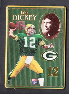 lynn dickey 1993 metallic images quarterback collection metal card #4 packers from $7.0
