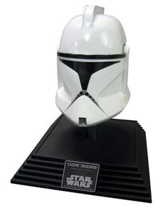 The sleek and ultra-cool Star Wars Clone Trooper Adult Halloween Mask/Helmet will provide you one of the most iconic looks in the history of film. Crafted out of lightweight and durable plastic and one size fits most adults.