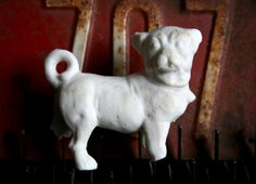 frozen charlotte animals   ... Dug Up Curly Tail Animal Figure Frozen Charlottes Pet DOG 122a
