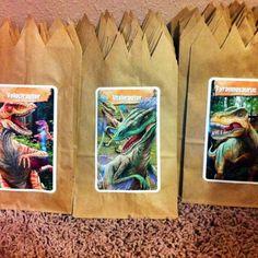 Dinosaur favor bags