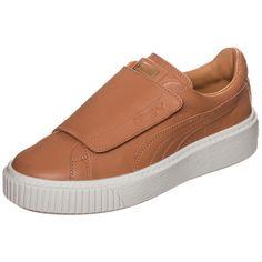 606f9ffa7e63 Damen PUMA Basket Platform Big Strap Sneaker Damen weiß   - Kategorie  Damen  SchuheSneakerSneaker LowSneaker Material  Leder  Material  Glattleder  ...