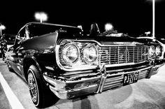 Cruisin down the street in my 6-4!!!     '64 Impala