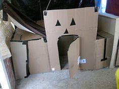 cardboard box maze!!!!